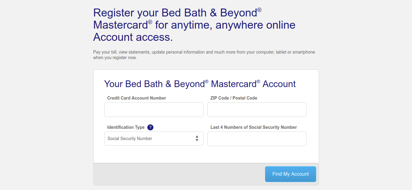 Bed Bath Register