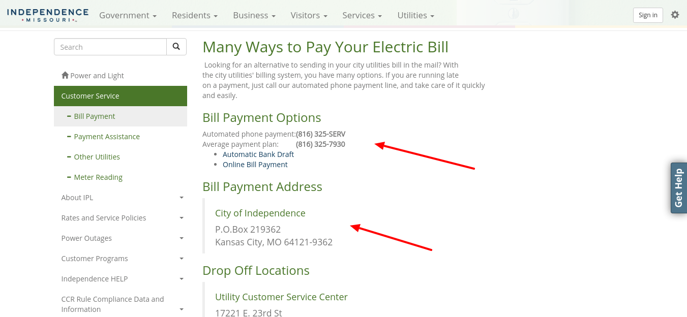 Bill Payment City of Independence Missouri