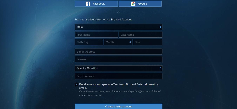 Blizzard Account