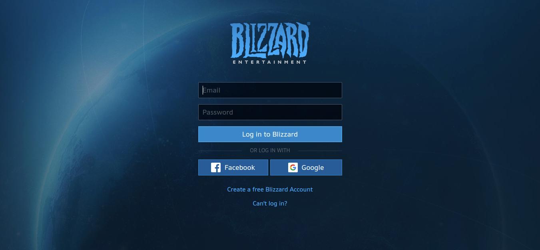 Blizzard Login