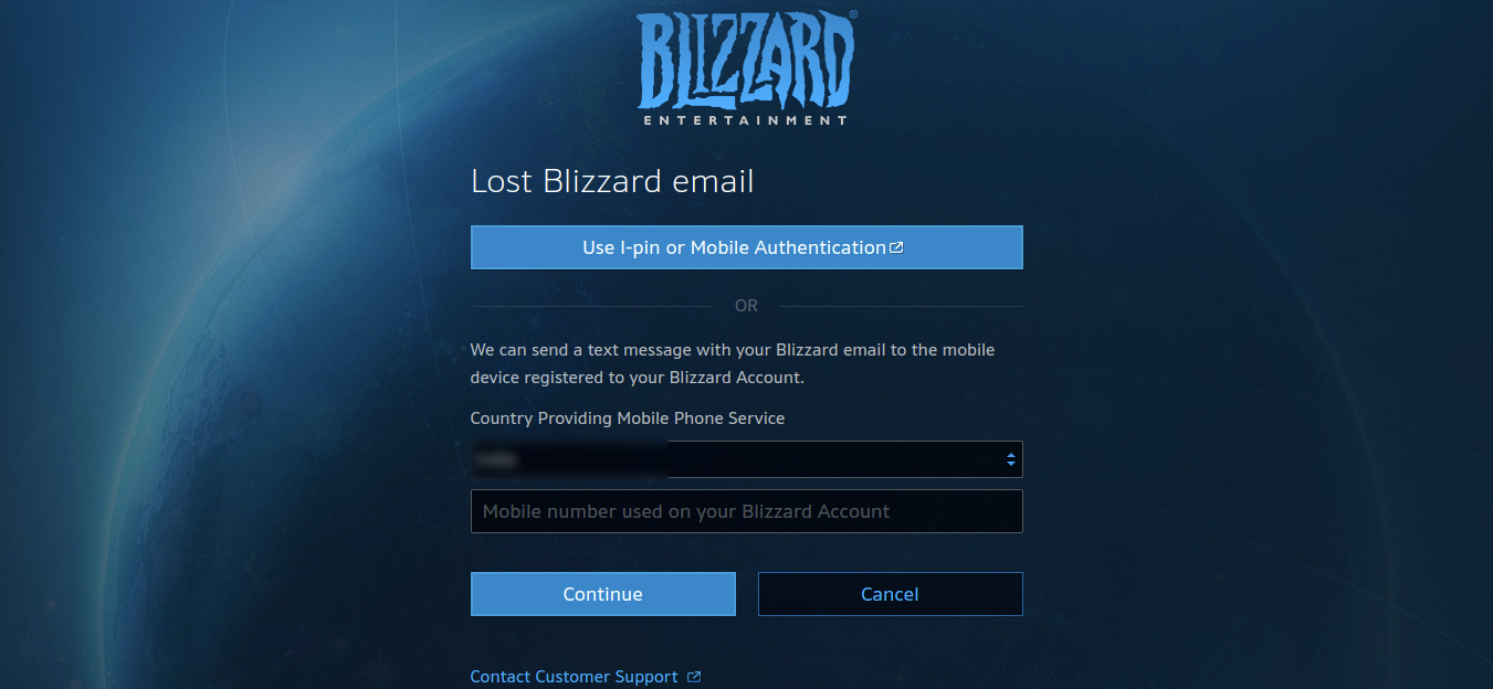 Can't log in
