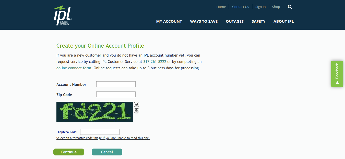 Create an Account Indianapolis