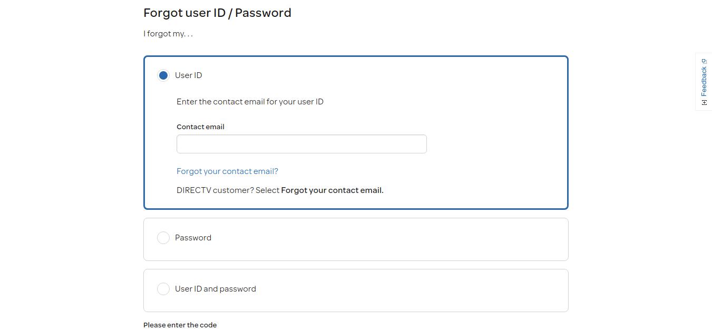 Forgot ID Password