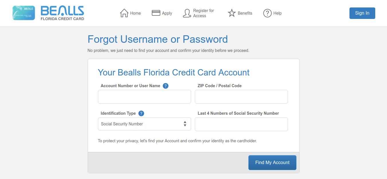 Forgot Username or Password