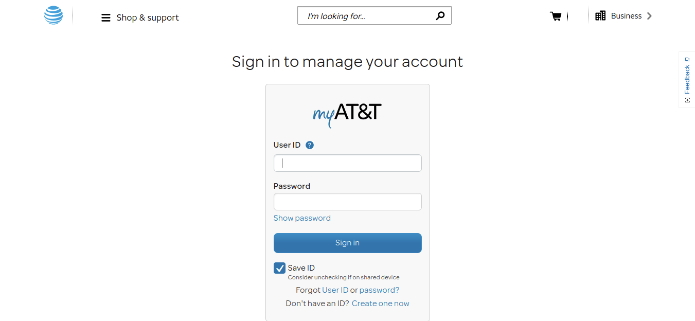 Manage Your AT T Account Login