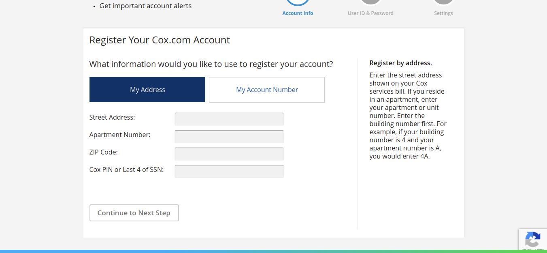 My Profile Registration