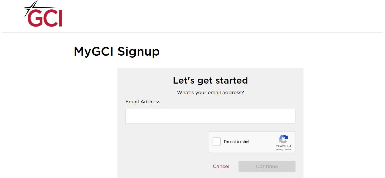 MyGCI Signup