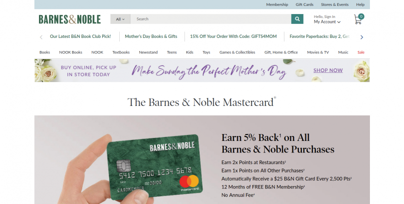 Noble Mastercard Barnes Noble