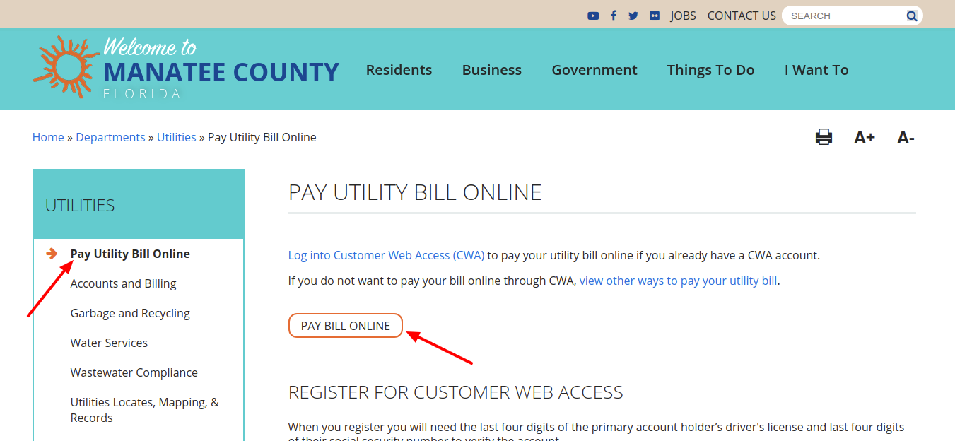 Pay Utility Bill Online Manatee County