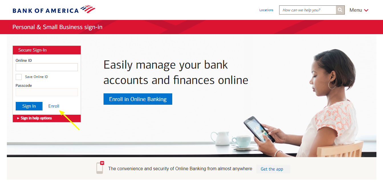 bank of america personal account sign in