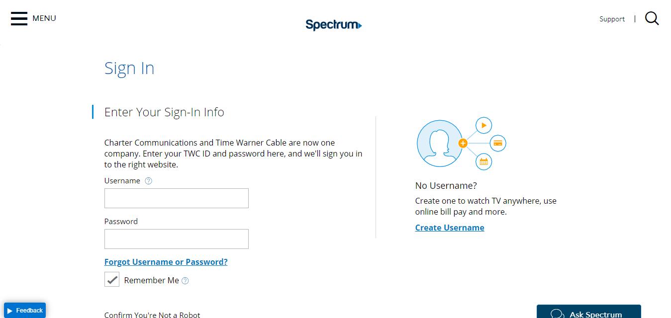 Spectrum net Login