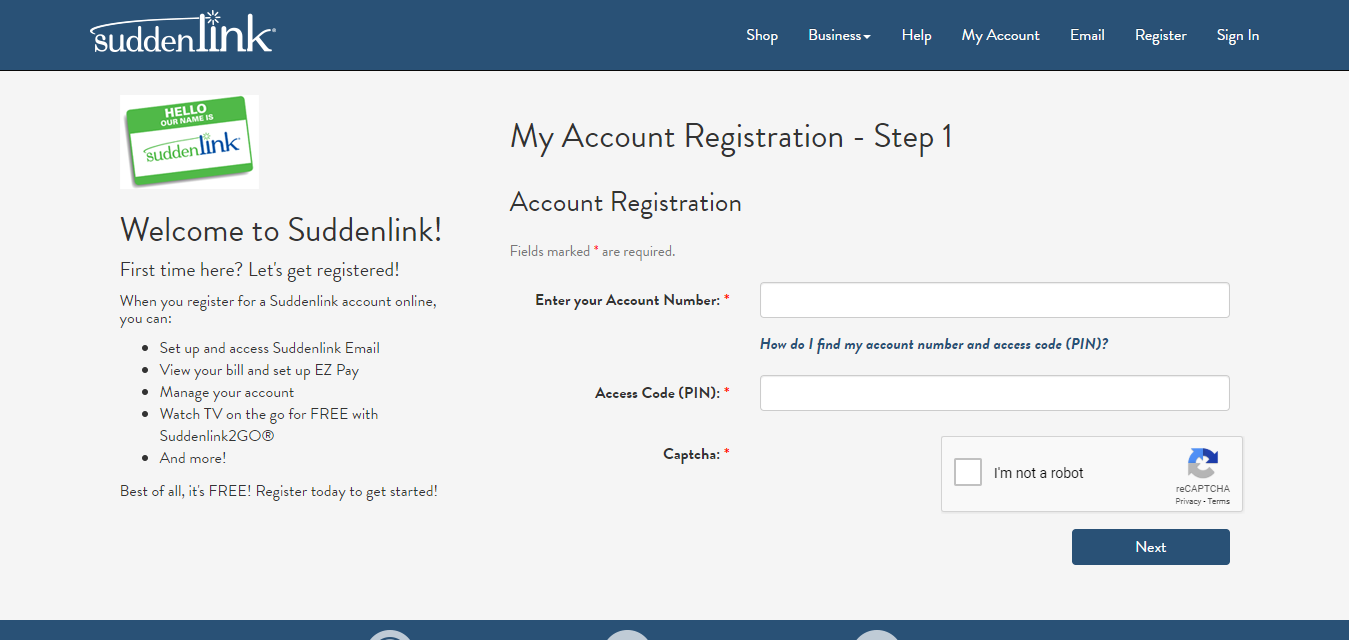 Suddenlink My Account Account Registration