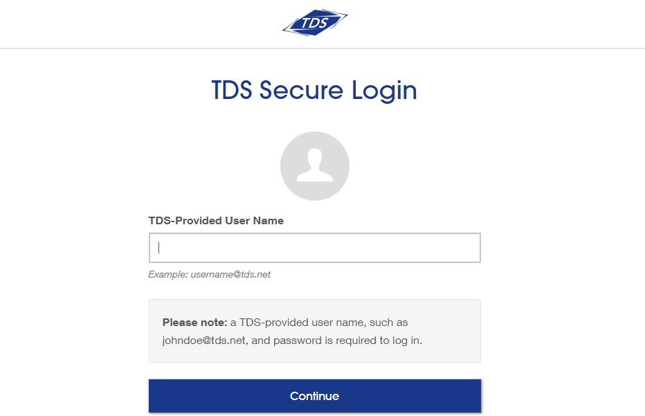 TDS Account Management Login