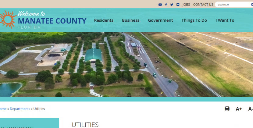 Utilities Manatee County Logo