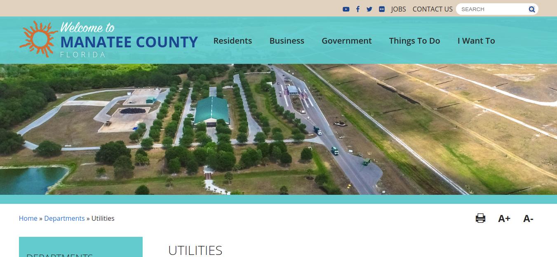Utilities Manatee County Logo