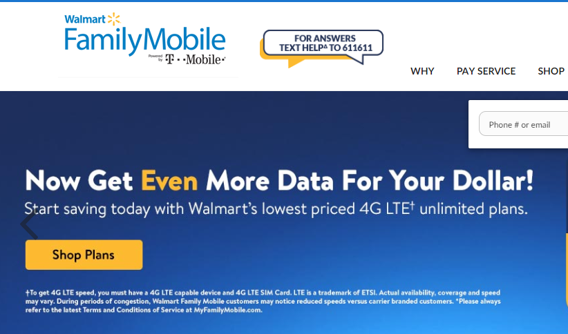 www myfamilymobile com - How To Pay The Walmart Family Moble