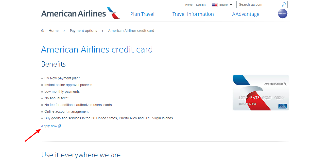 Merican Airlines Aadvantage Credit Card Bill Payment