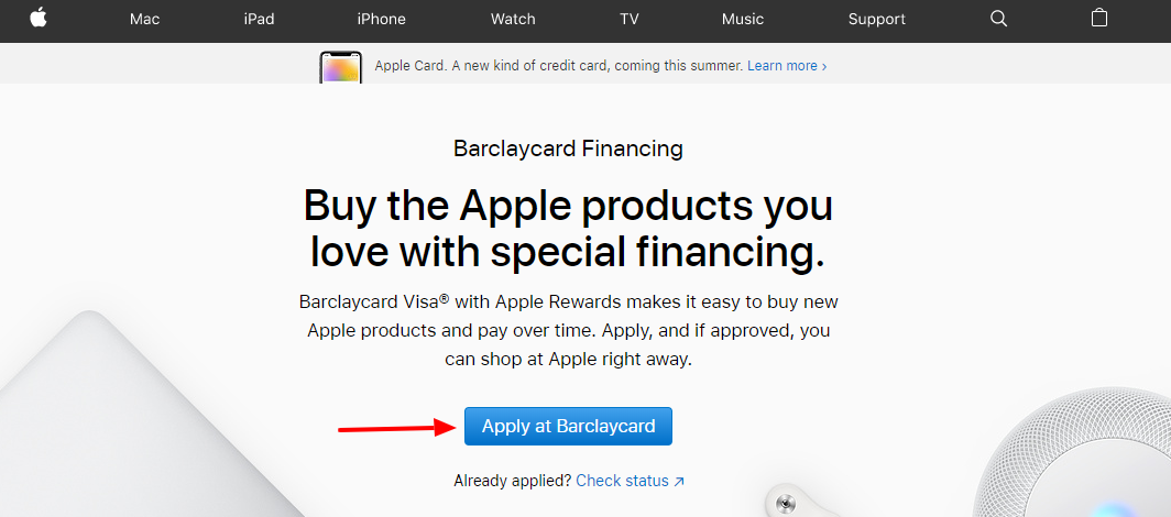 Apple Financing with Barclaycard Credit Card Apple