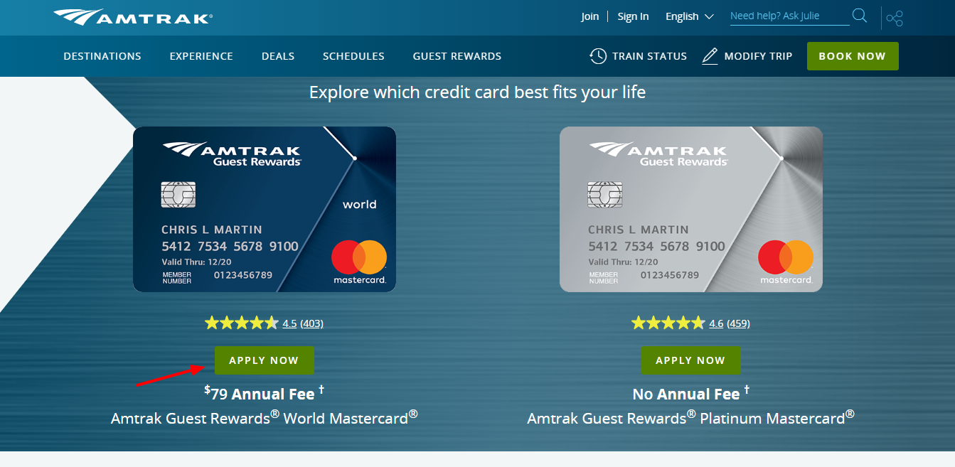Apply Now for the Amtrak Guest Rewards Mastercard Credit Card