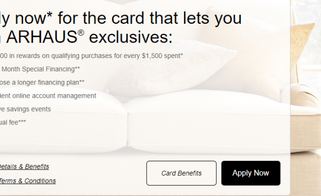 Arhaus Archarge Credit Card Logo