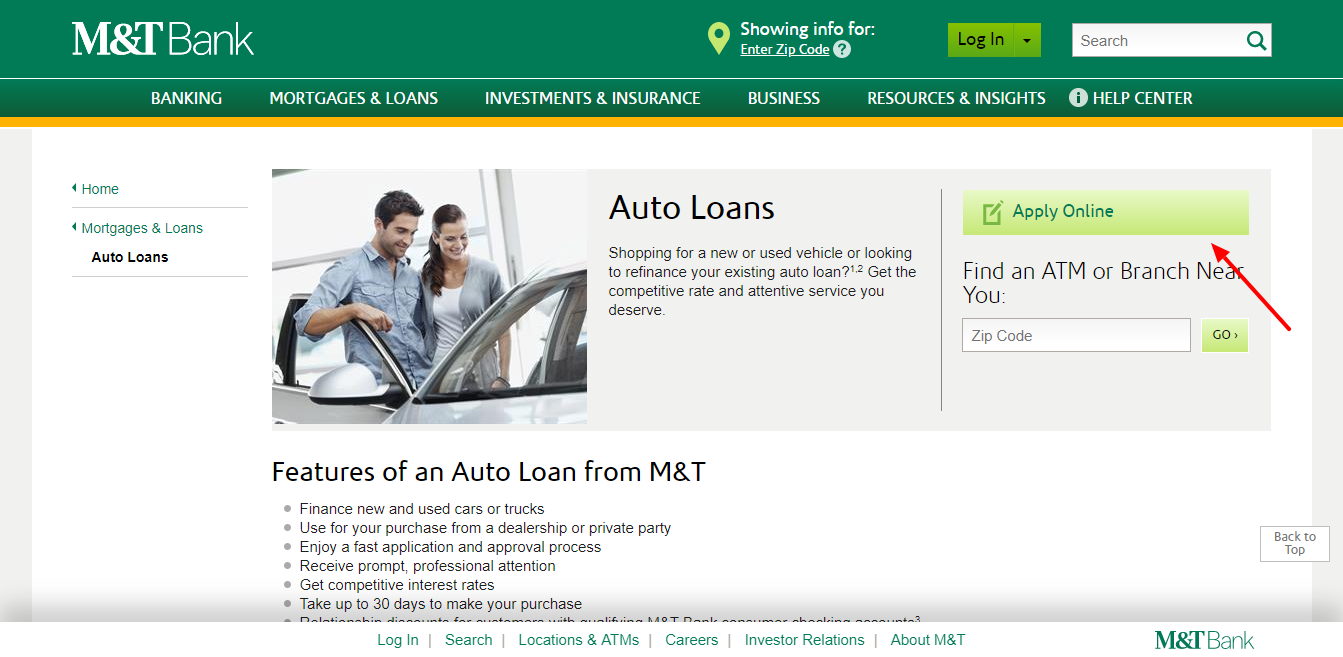 Auto Loans Mortgages Loans M T Bank