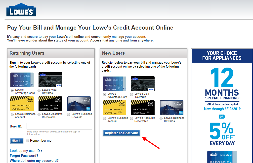 Lowe s Consumer Business Credit Cards