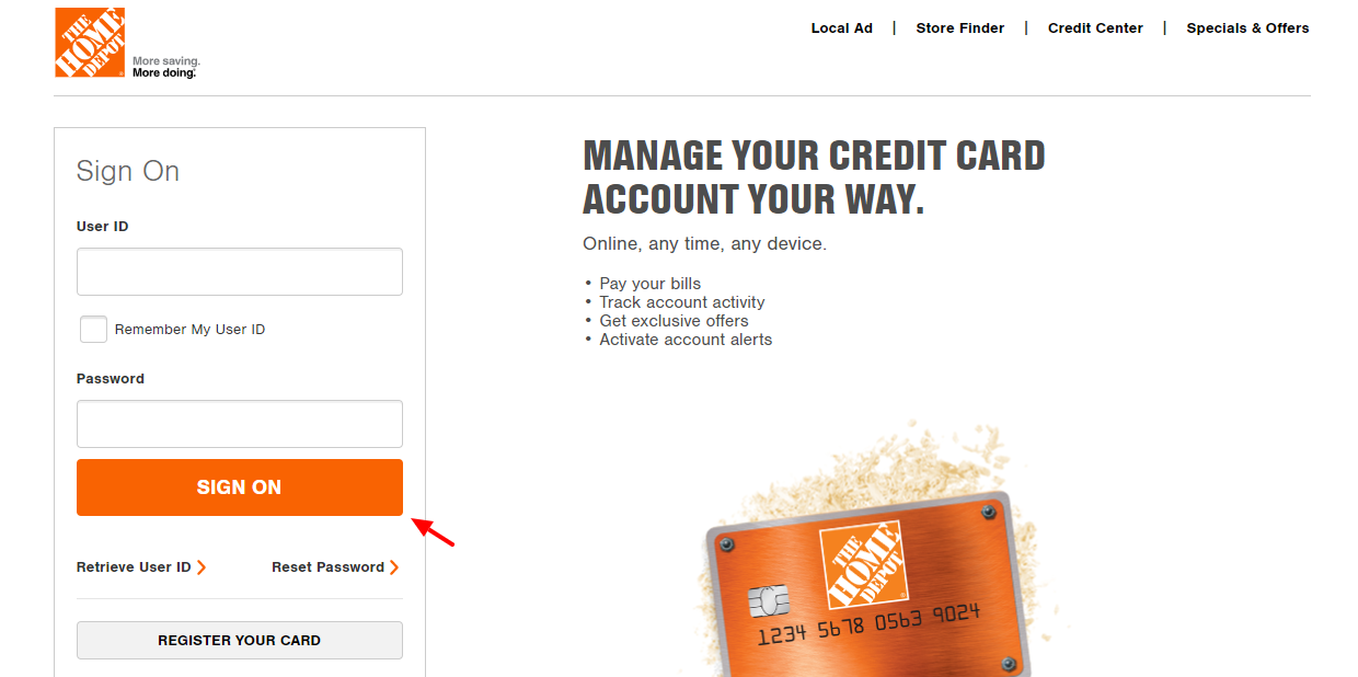 Www Homedepot Com C Credit Center Payment Guide For Home