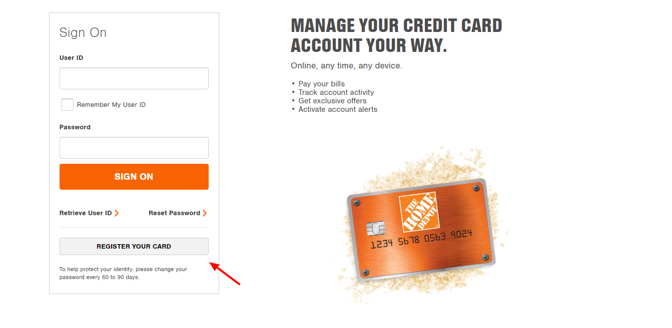 Home Depot Credit Card Log In or Apply