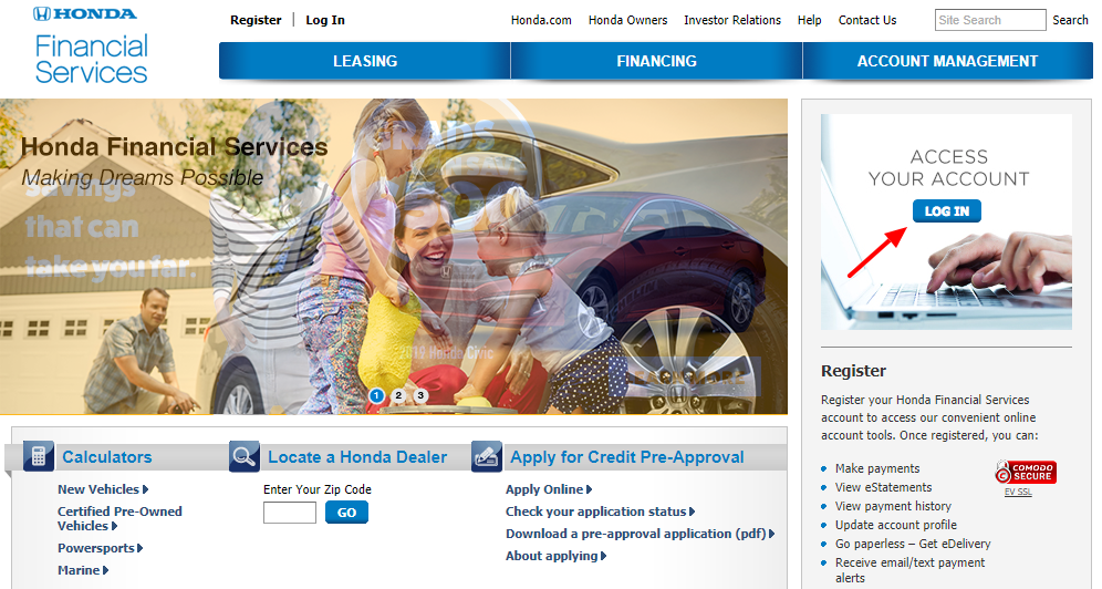 Hondafinancialservices Online Payment >> Www Hondafinancialservices Com How To Pay Honda Financial