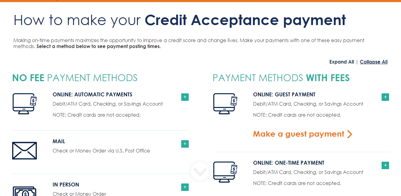 How to Make a Payment to Credit Acceptance Credit Acceptance
