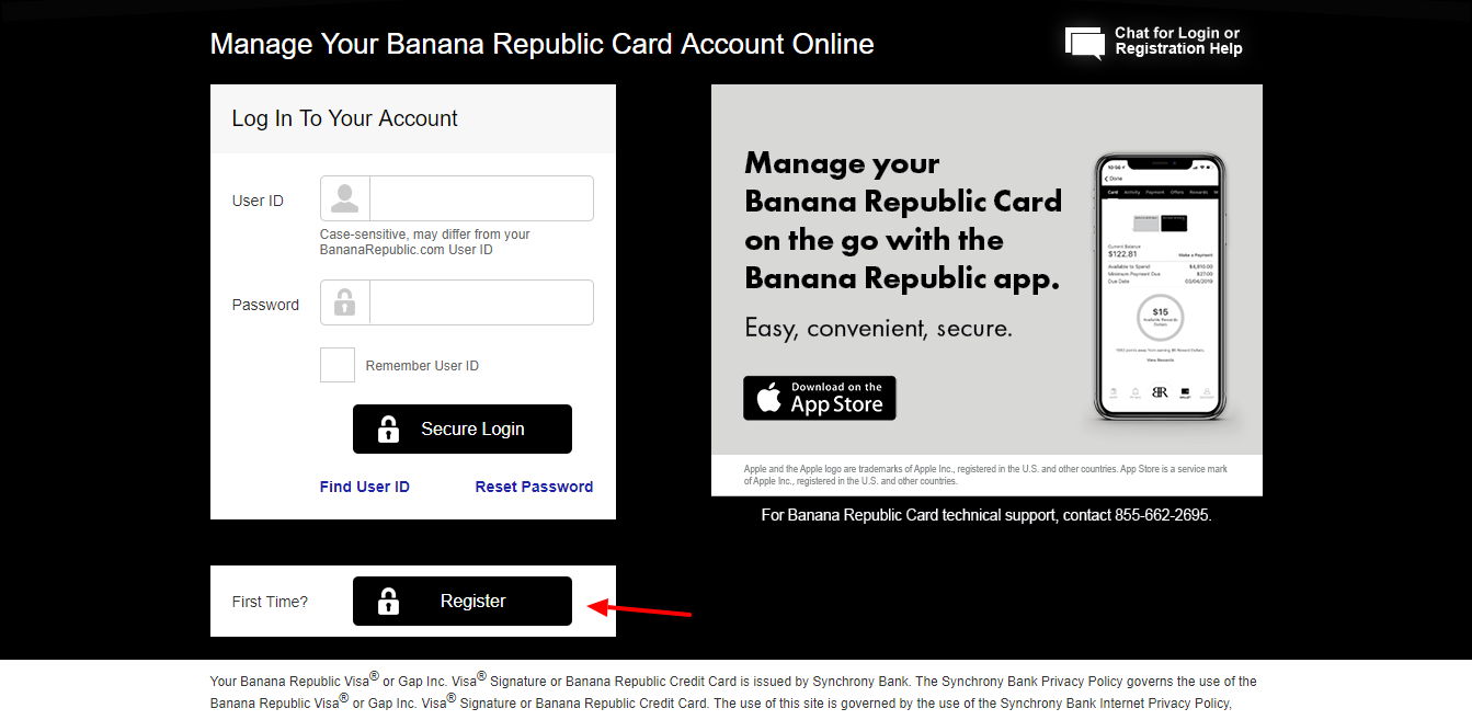 Manage Your Banana Republic Credit Card Account