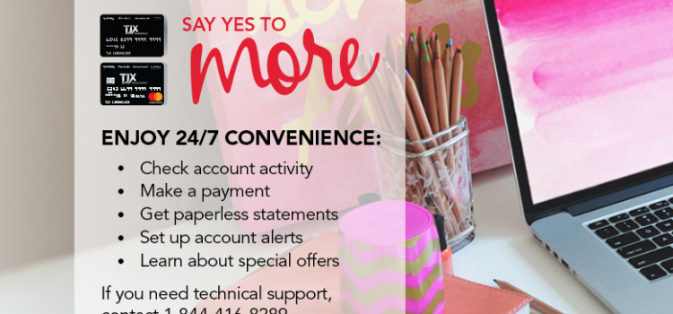 Payment Process For TJX Credit Card Bill Online