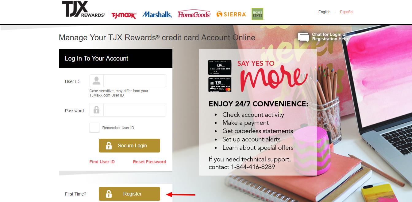 Manage Your TJX Rewards credit card