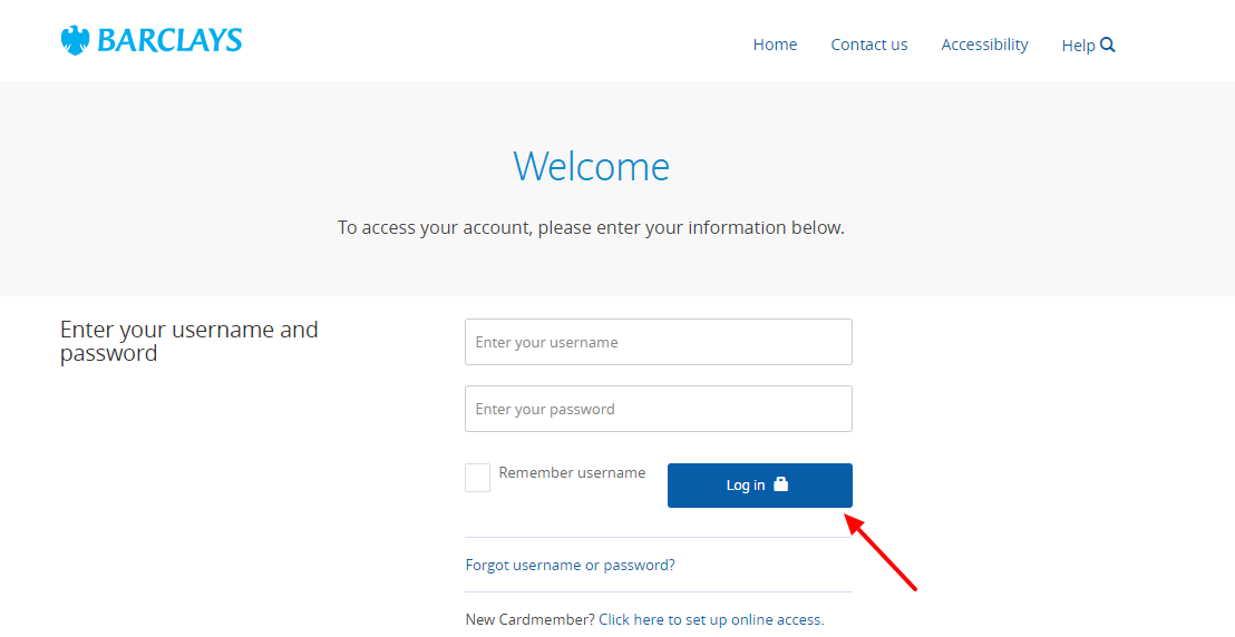 Welcome to Card Servicing Login