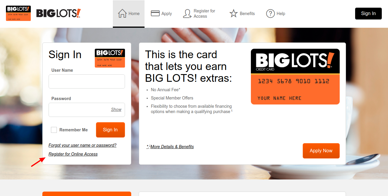 Big-Lots-Credit-Card-Register