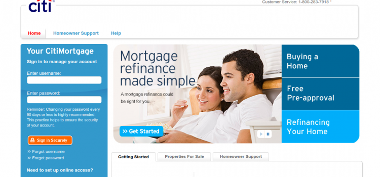 www.citimortgage.com – Online Payment Guide For CitiMortgage Loan