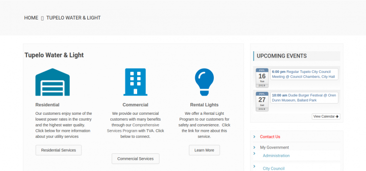 www.tupeloms.gov/tupelo-water-light – How To Pay Tupelo Water And Light Bill Online