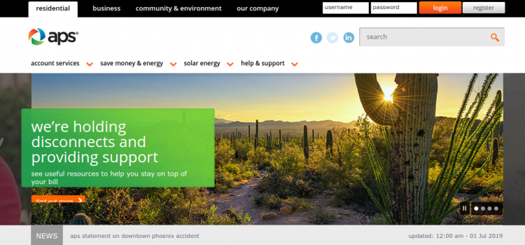 www.aps.com – Payment Process For Arizona Public Survice Bill Online