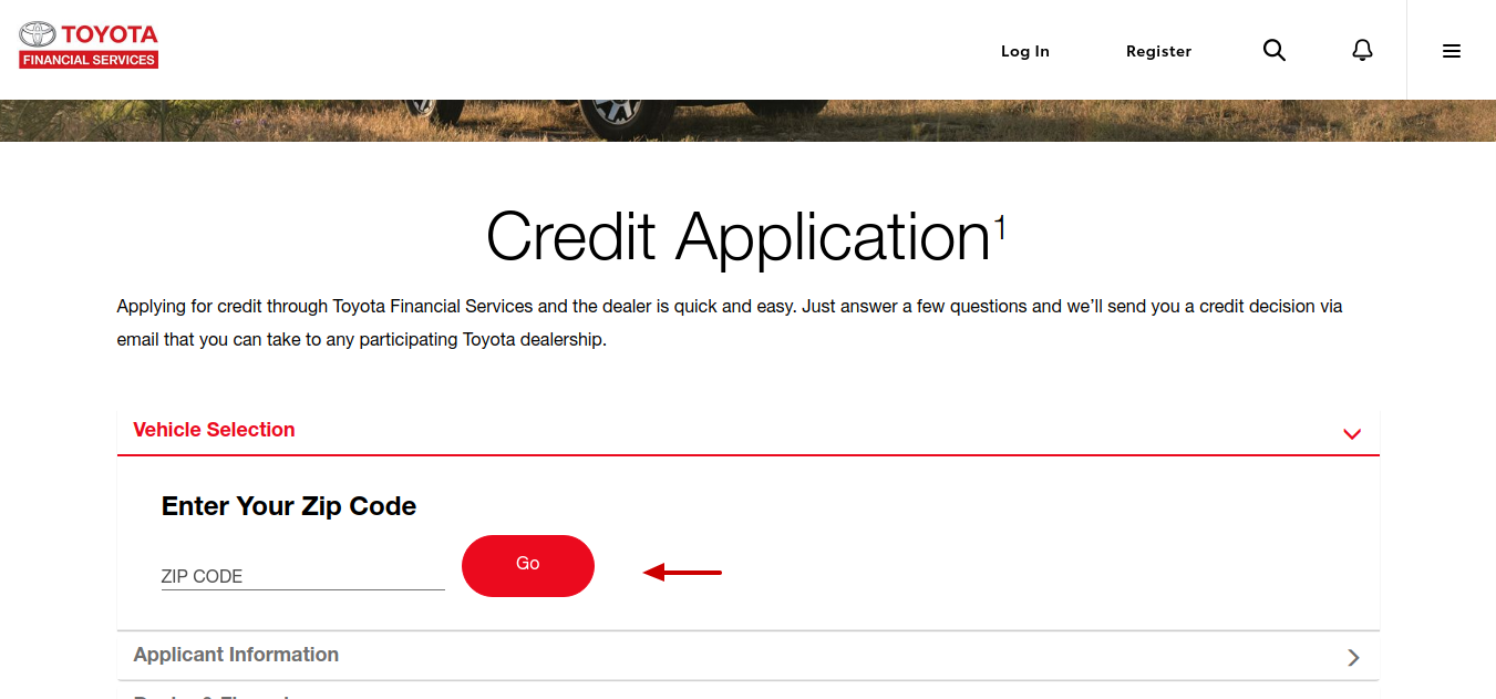 Apply for Credit _ Toyota Financial