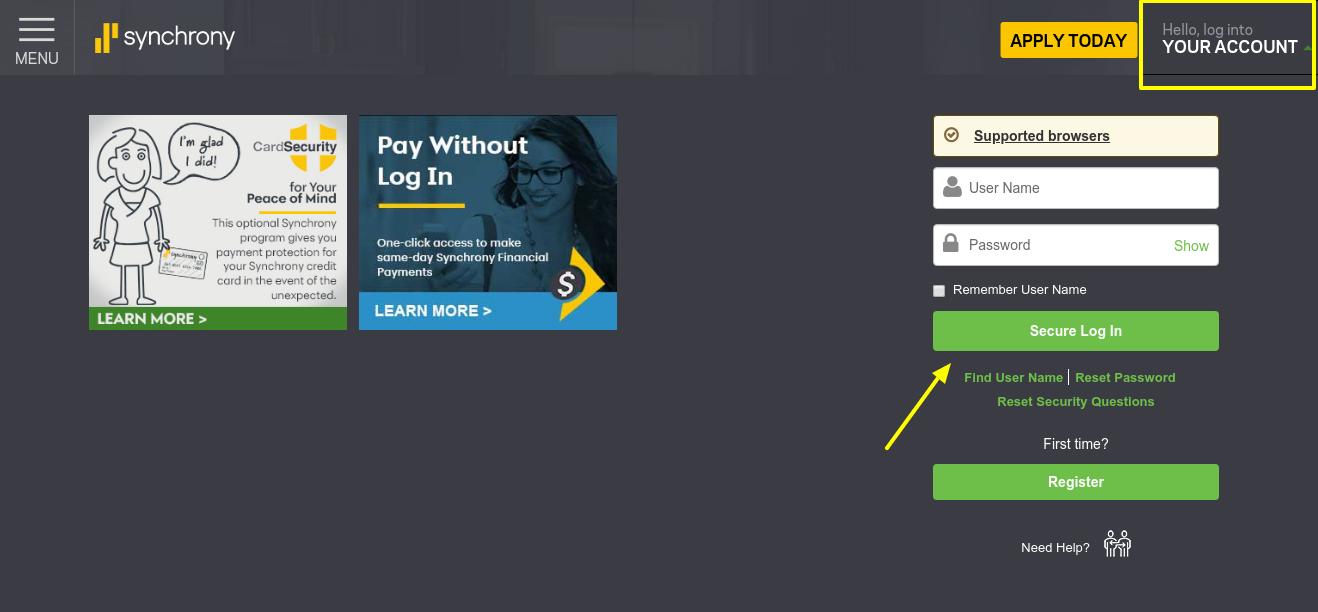 BrandsMart-credit-card-login