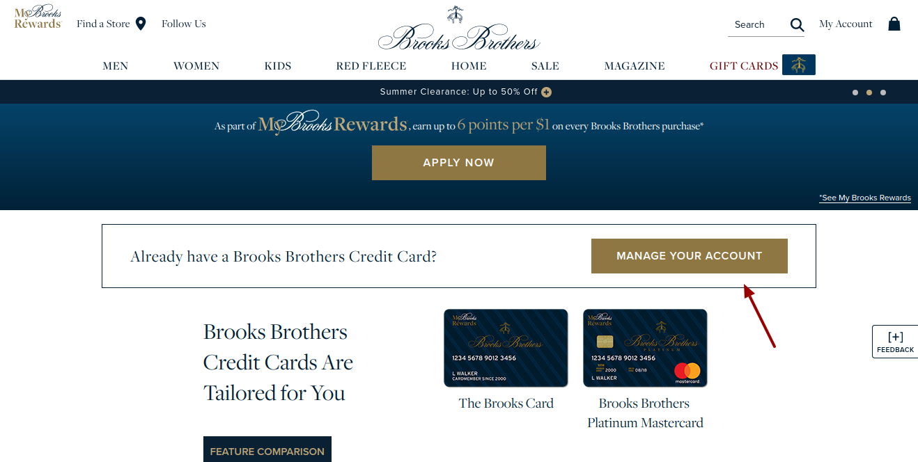 BrooksBrothers-credit-card-manage-account