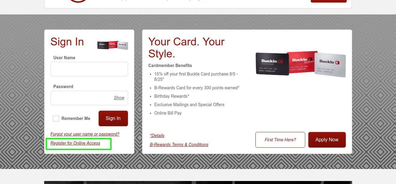 Buckle-credit-card-register