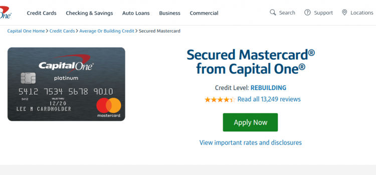 www.capitalone.com/credit-cards – Capital Secured Mastercard Online Bill Pay