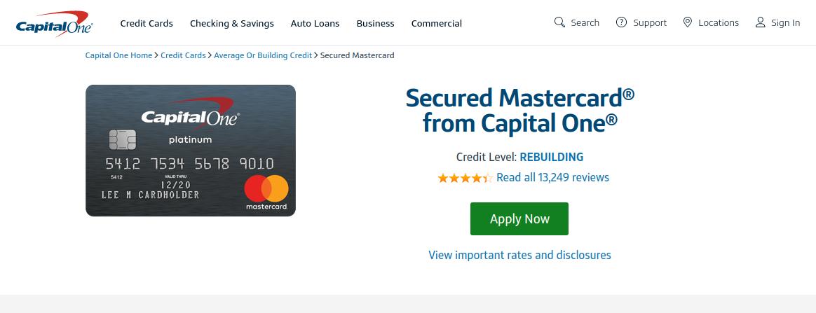 Secured Credit Card Capital One logo