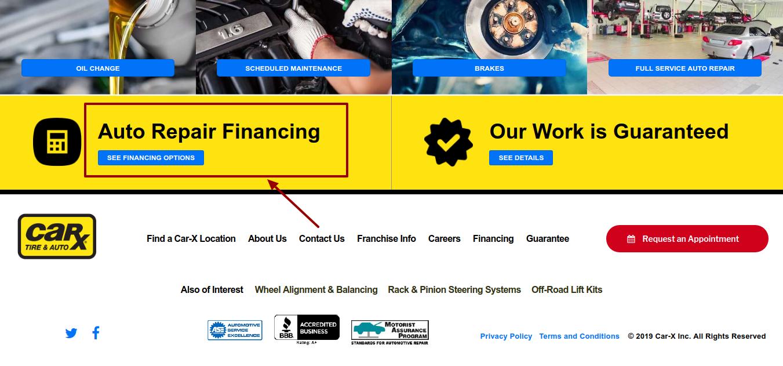 CAR-X _ Auto Repair financial
