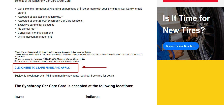 Car-X Credit Card Apply