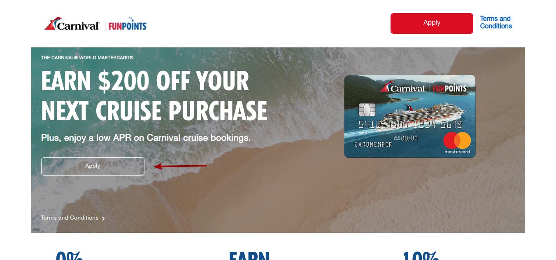 Carnival Mastercard Apply