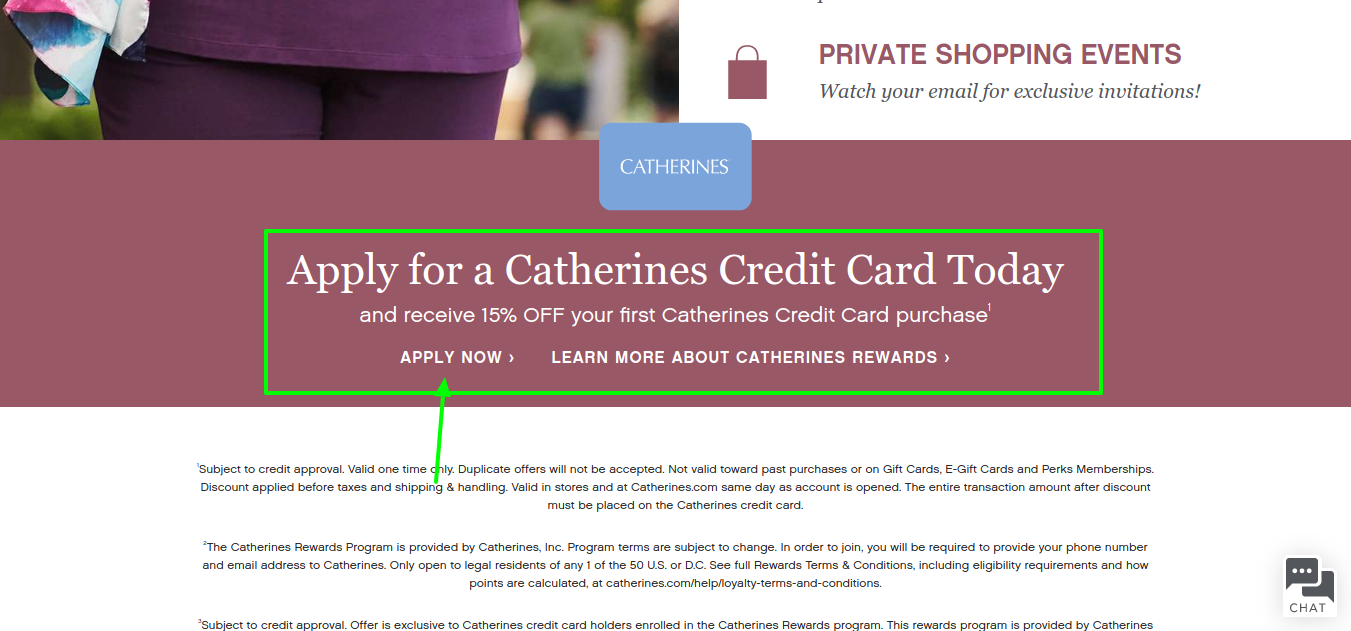 Catherines Credit Card Apply