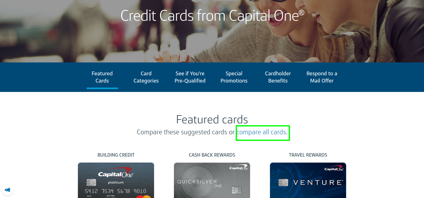 Explore Credit Cards & Apply Online _ Capital One