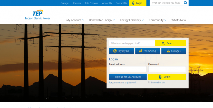 www.tep.com – Pay The Tucson Electric Power Bill Online